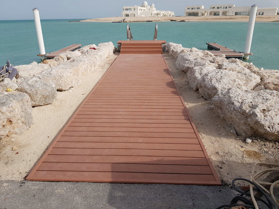 WPC Decking for Pontoons