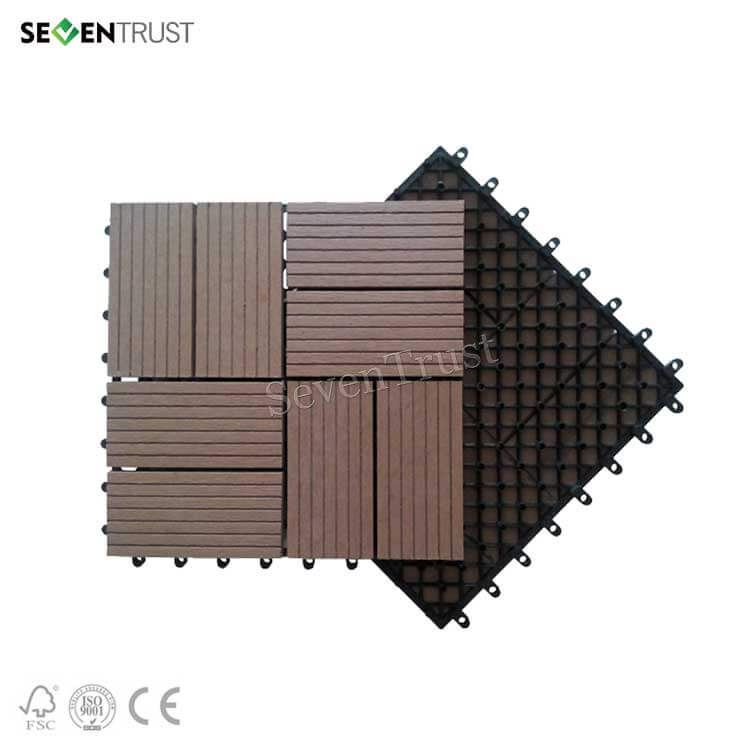 Composite Interlocking Floor Tiles
