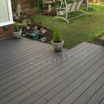 Watertight, watertight wood plastic composite outdoor floor