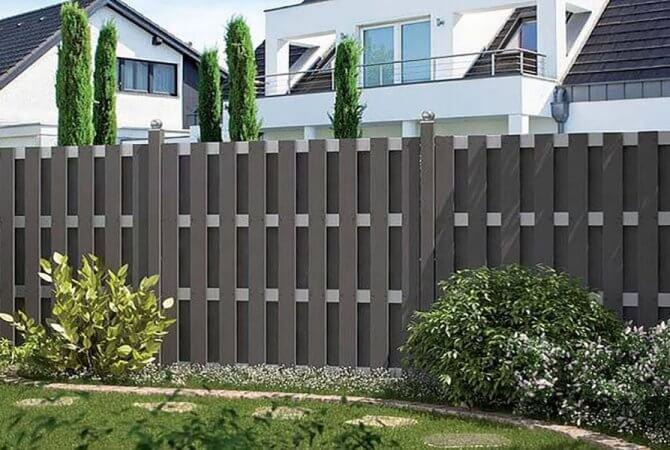 Functional application of plastic wood composite grille