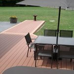 Home improvement wood plastic composite floor