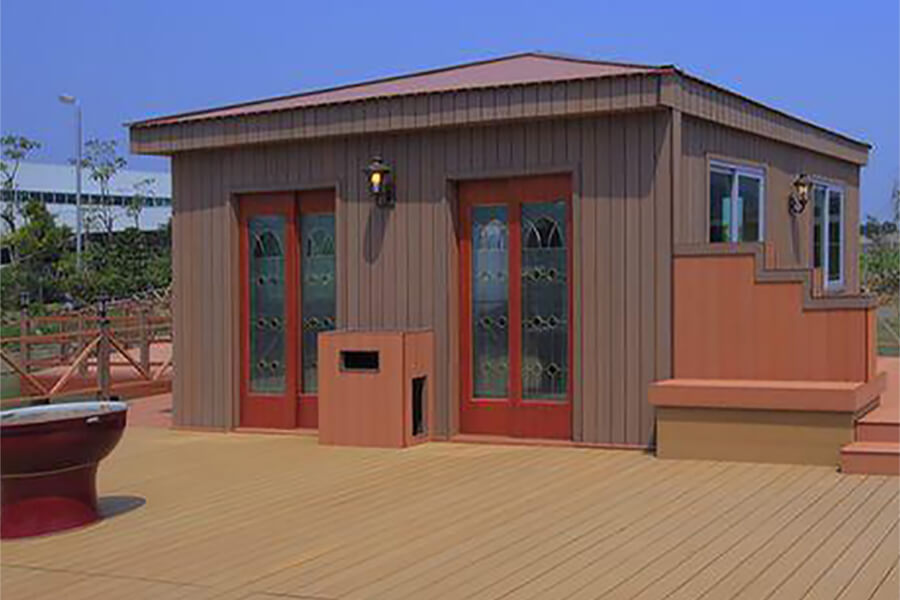 Plastic wood composite wall panels have been developed in prefabricated buildings