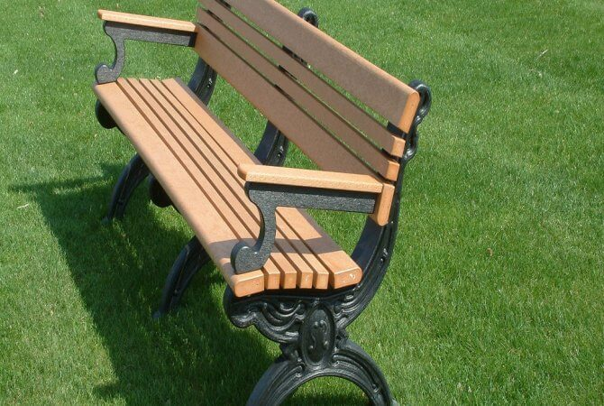 Wood Plastic Composite Bench