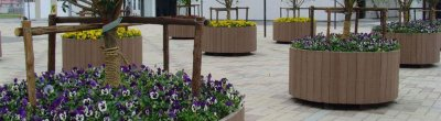 Plastic wood composite flower stand products