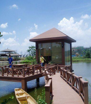 Wood Plastic Composite Pavilion