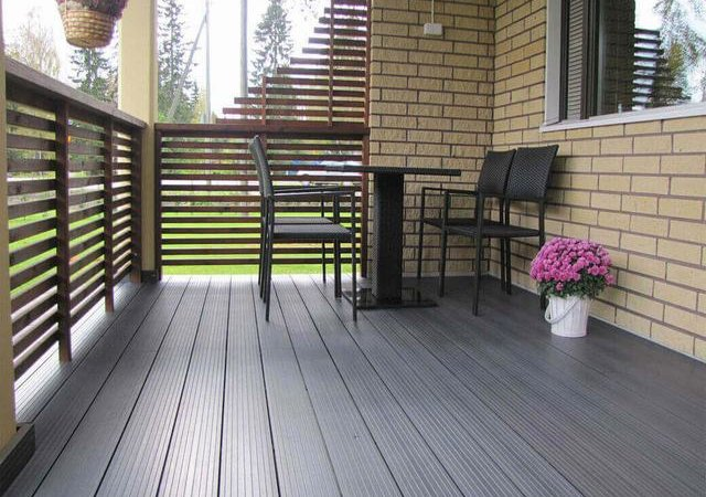 Home outdoor floor paving, choose wood floor or wood plastic composite floor