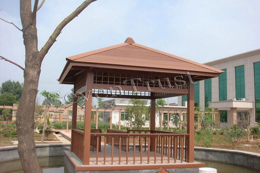 Plastic wood composite grille ceiling is more cost-effective than log ceiling