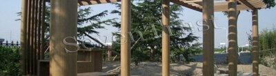 Outdoor wood plastic composite grape rack