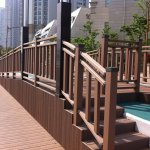 Co-extruded plastic wood composite