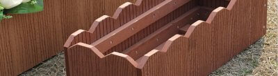 Plastic wood composite flower stand wins traditional flower stand