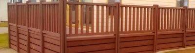 Choice of wood plastic compositeand ceramic tiles