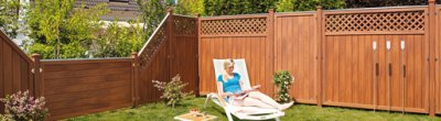 Can wood plastic materials for garden decoration?